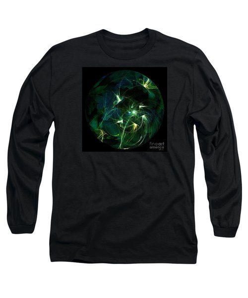 Garden Sprites Come At Night Long Sleeve T-Shirt by Elizabeth McTaggart
