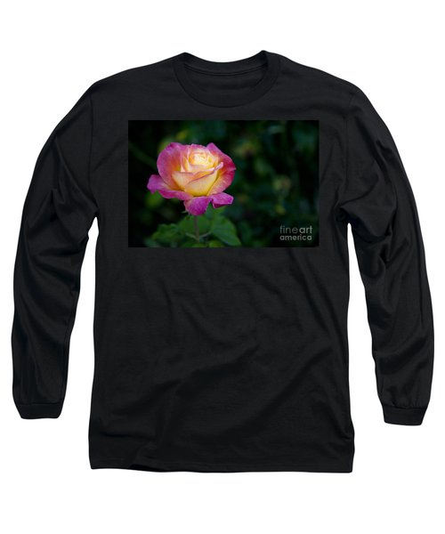 Long Sleeve T-Shirt featuring the photograph Garden Tea Rose by David Millenheft