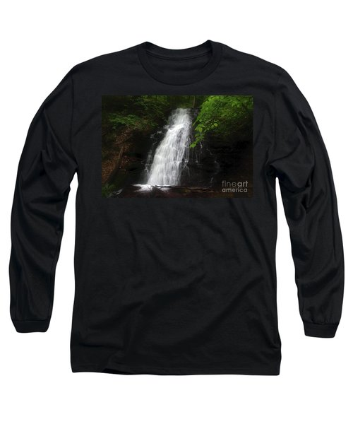 Long Sleeve T-Shirt featuring the photograph Garvey Spring Falls by Debra Fedchin