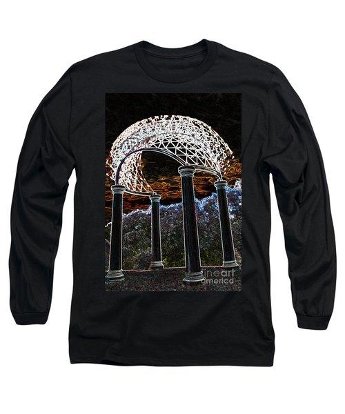 Long Sleeve T-Shirt featuring the photograph Gazebo 1 by Minnie Lippiatt