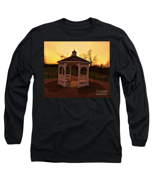 Long Sleeve T-Shirt featuring the photograph Gazebo In Sunset by Becky Lupe