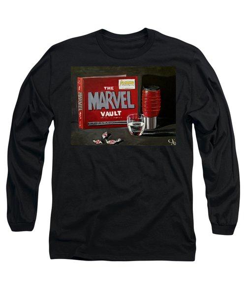 Marvel Comic's Still Life Acrylic Painting Art Long Sleeve T-Shirt
