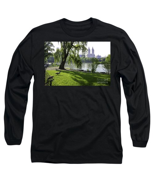 Geese In Central Park Nyc Long Sleeve T-Shirt