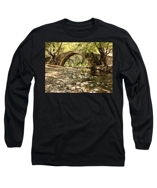 Gelefos Old Venetian Bridge Long Sleeve T-Shirt by Mike Santis