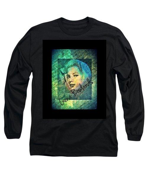 Gena Rowlands Long Sleeve T-Shirt by Absinthe Art By Michelle LeAnn Scott
