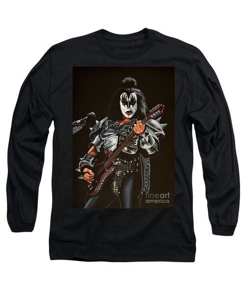 Gene Simmons Of Kiss Long Sleeve T-Shirt