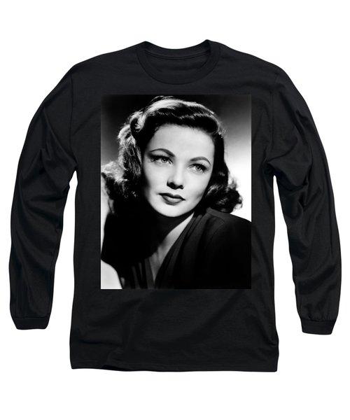 Gene Tierney Long Sleeve T-Shirt