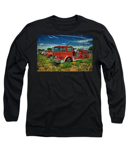 Long Sleeve T-Shirt featuring the photograph Generations Of Fire Fighting Equipment by Ken Smith