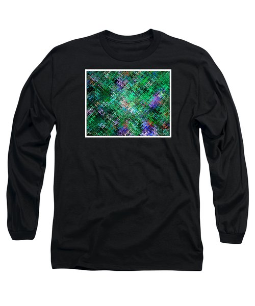 Long Sleeve T-Shirt featuring the digital art Geometric Abstract by Mariarosa Rockefeller