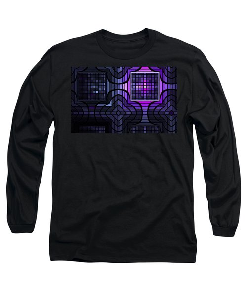 Long Sleeve T-Shirt featuring the digital art Geometric Stained Glass by GJ Blackman