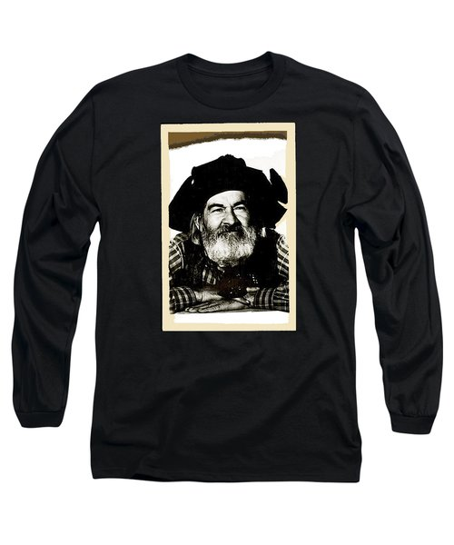 George Hayes Portrait #1 Card Long Sleeve T-Shirt by David Lee Guss