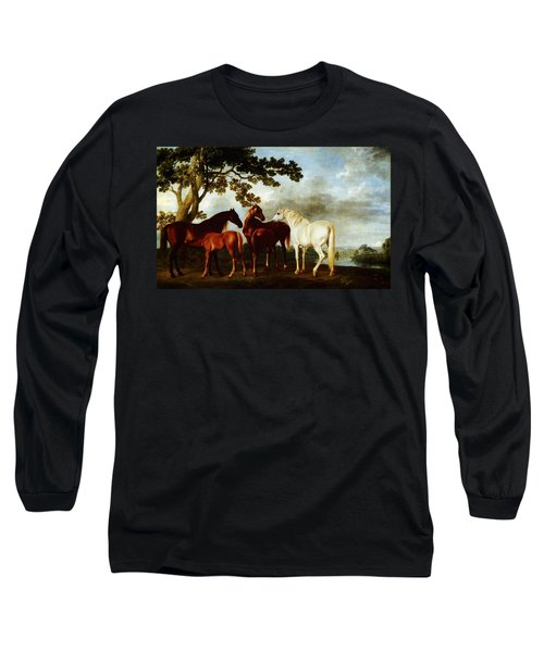 Horses Long Sleeve T-Shirt by George Stubbs