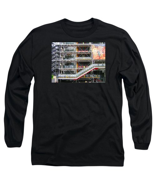 Georges Pompidou Centre Long Sleeve T-Shirt by Oleg Zavarzin