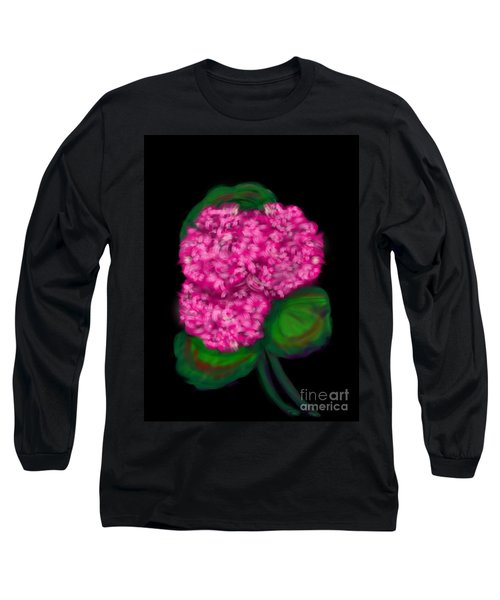 Long Sleeve T-Shirt featuring the digital art Geranium by Christine Fournier