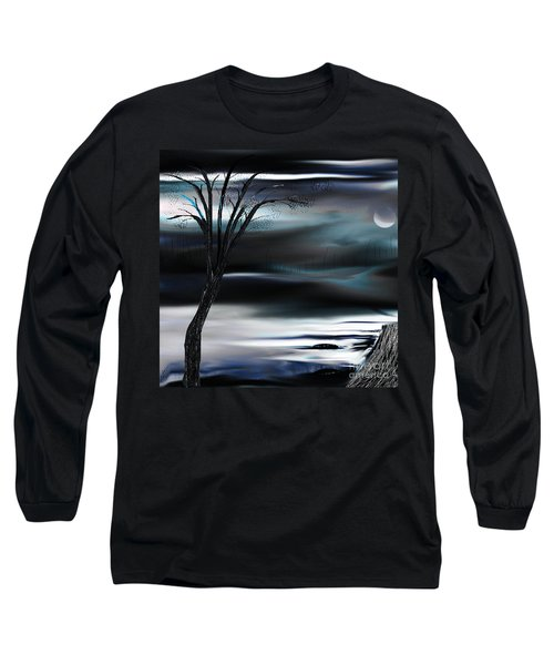 Long Sleeve T-Shirt featuring the painting Get Back To Serenity by Yul Olaivar