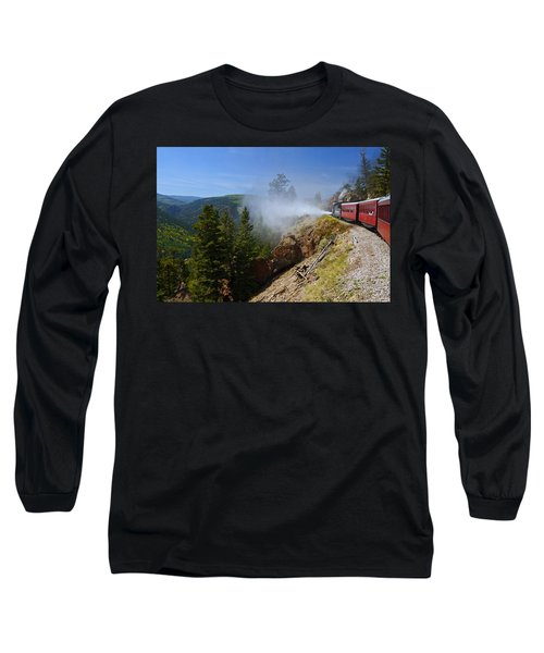 Getting Steamed Long Sleeve T-Shirt by Jeremy Rhoades