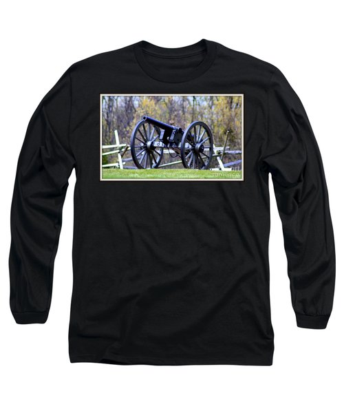 Long Sleeve T-Shirt featuring the photograph Gettysburg Battlefield Cannon by Patti Whitten