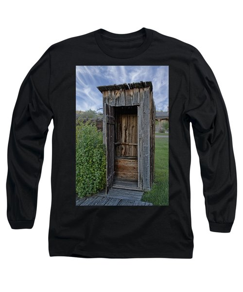 Ghost Town Outhouse - Montana Long Sleeve T-Shirt