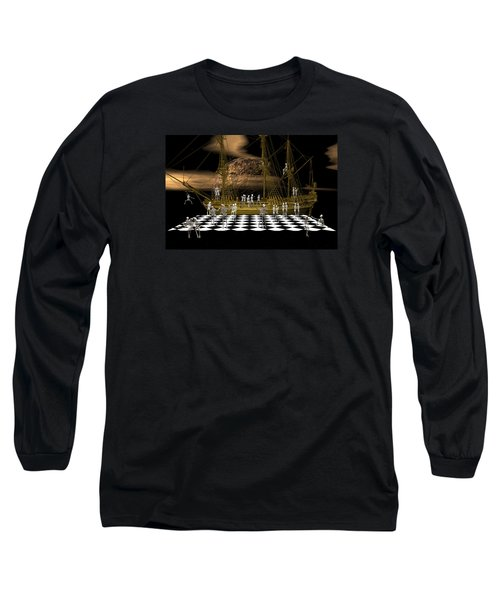 Long Sleeve T-Shirt featuring the digital art Ghostship Gala 2 by Claude McCoy