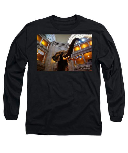 Long Sleeve T-Shirt featuring the photograph Giant Elephant  by John S