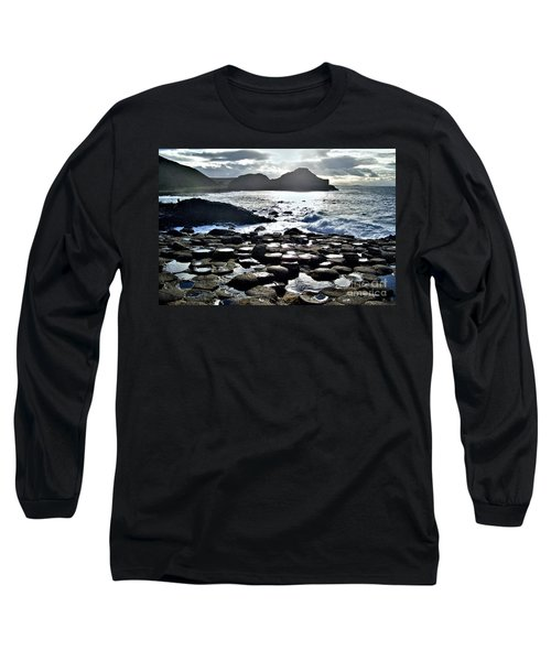 Giant's Causeway Sunset Long Sleeve T-Shirt by Nina Ficur Feenan