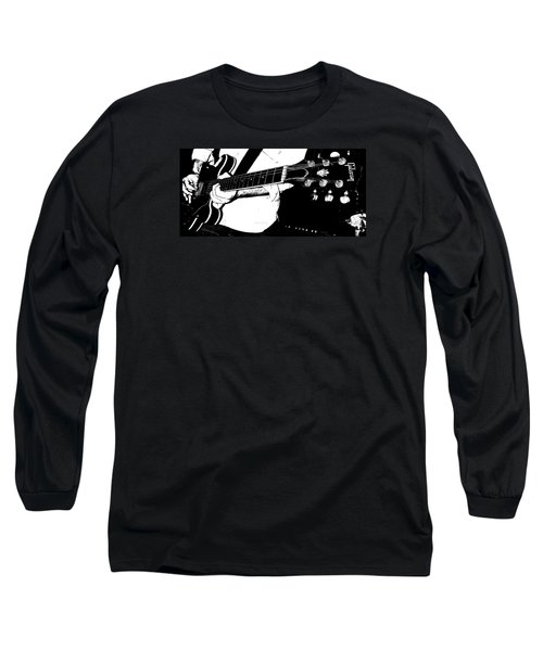 Gibson Guitar Graphic Long Sleeve T-Shirt by Chris Berry
