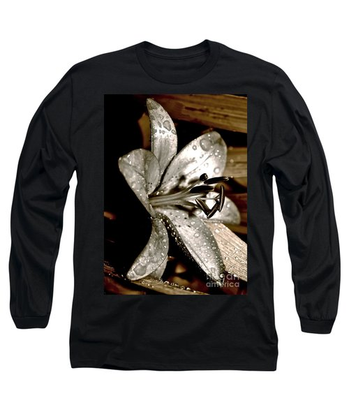 Gilded Lilies 3 Long Sleeve T-Shirt by Linda Bianic