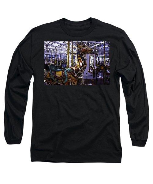 Giraffe Carousel Ride Long Sleeve T-Shirt