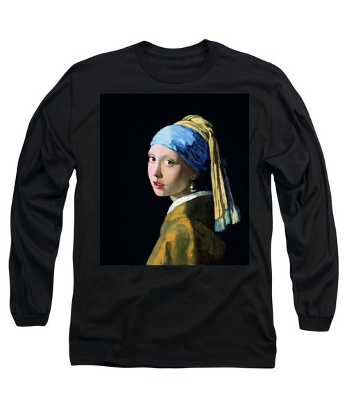 Girl With A Pearl Earring Long Sleeve T-Shirt