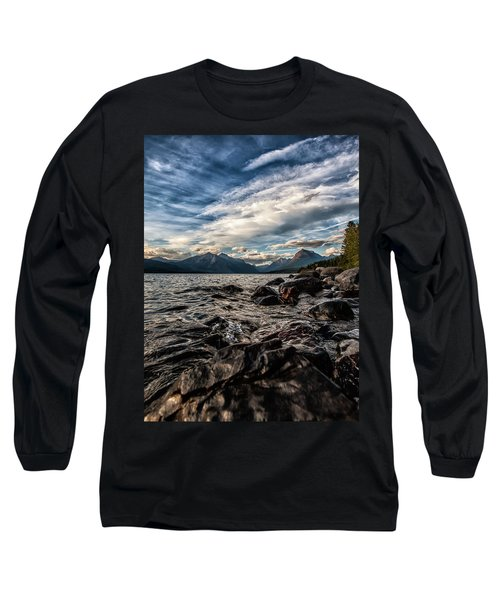 Glacier Whispers Long Sleeve T-Shirt by Aaron Aldrich