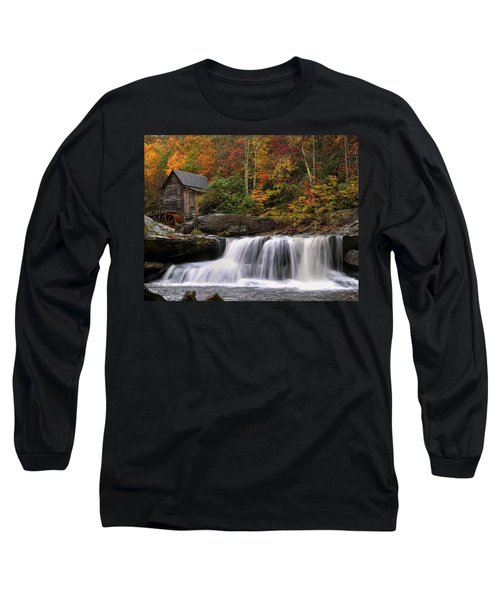 Glade Creek Grist Mill - Photo Long Sleeve T-Shirt by Chris Flees