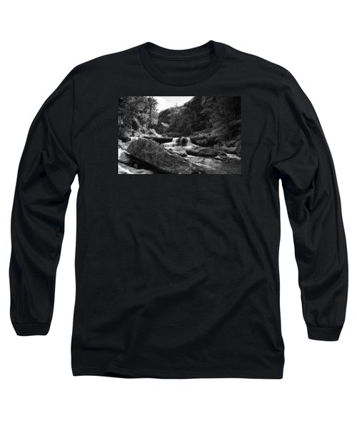 Glade Creek Waterfall Long Sleeve T-Shirt by Shelly Gunderson
