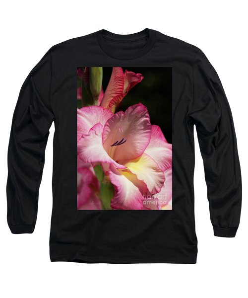 Gladiolus In Pink Long Sleeve T-Shirt