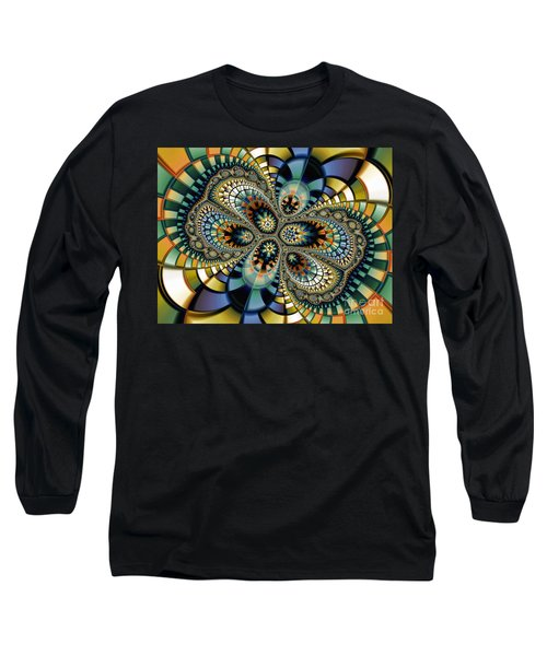 Glass Mosaic-geometric Abstraction Long Sleeve T-Shirt