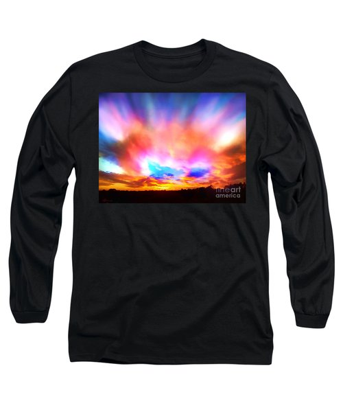 Glory Sunset Long Sleeve T-Shirt by Patricia L Davidson