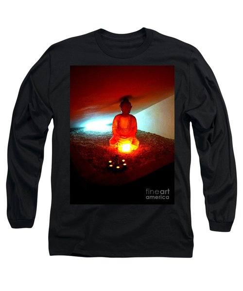 Glowing Buddha Long Sleeve T-Shirt