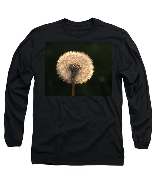 Glowing Dandelion Clock Long Sleeve T-Shirt