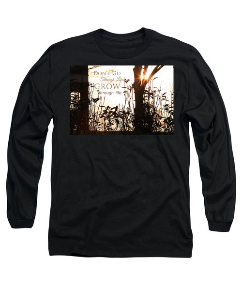 Glowing Landscape With Message Long Sleeve T-Shirt