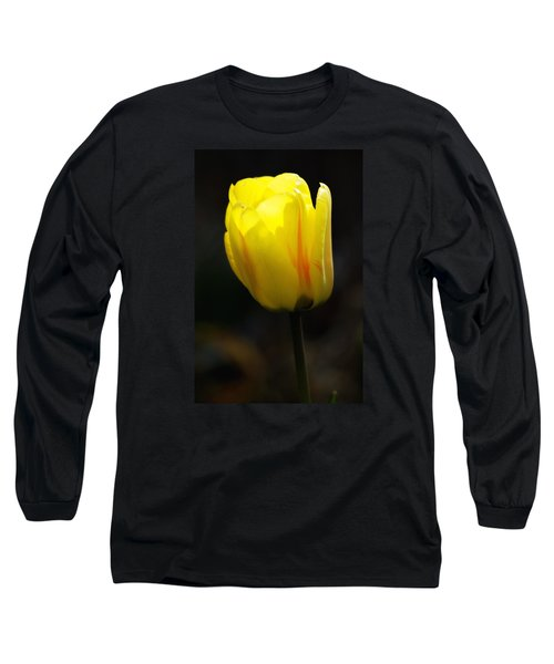 Glowing Tulip Long Sleeve T-Shirt by Shelly Gunderson