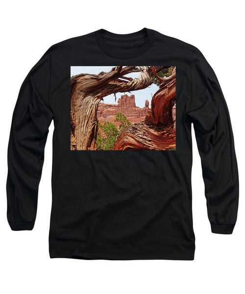 Long Sleeve T-Shirt featuring the photograph Gnarly Tree by Alan Socolik