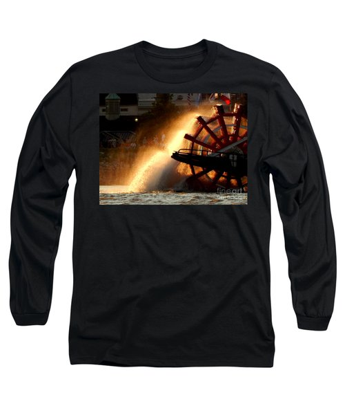 New Orleans Steamboat Natchez On The Mississippi River Long Sleeve T-Shirt by Michael Hoard
