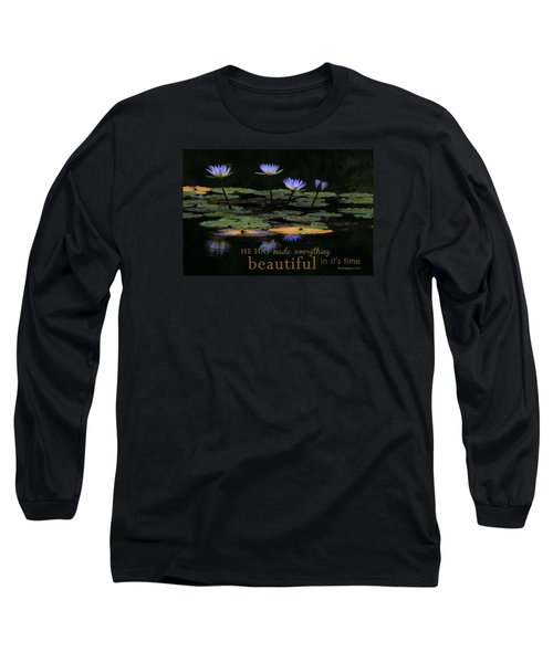Peace Of Mind With Message Long Sleeve T-Shirt
