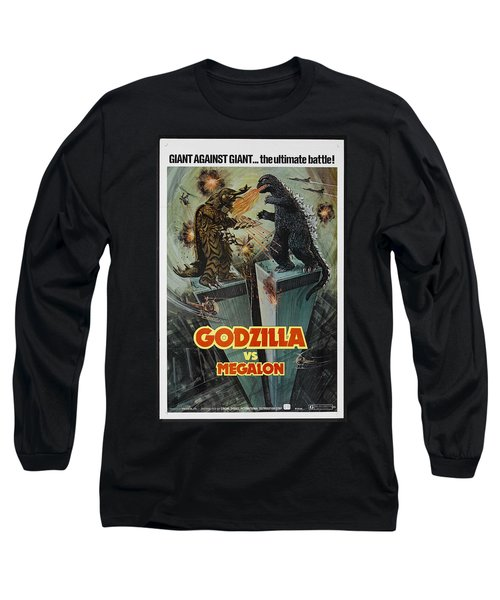 Godzilla Vs Megalon Poster Long Sleeve T-Shirt