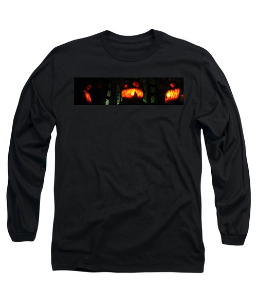 Going Up Pumpkin Long Sleeve T-Shirt by Shawn Dall