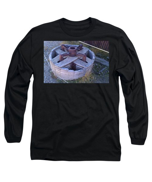 Long Sleeve T-Shirt featuring the photograph Gold Mine Pulley by Fortunate Findings Shirley Dickerson