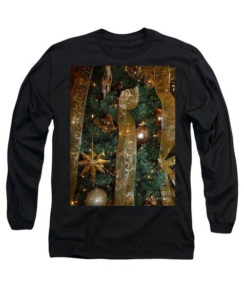 Gold Tones Tree Long Sleeve T-Shirt