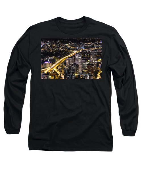 Long Sleeve T-Shirt featuring the photograph Golden Artery - Mcdxxviii By Amyn Nasser by Amyn Nasser