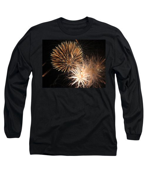 Long Sleeve T-Shirt featuring the photograph Golden Fireworks by Rowana Ray