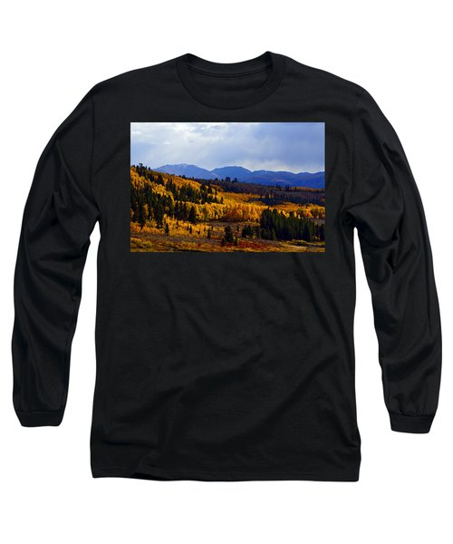 Golden Fourteeners Long Sleeve T-Shirt by Jeremy Rhoades