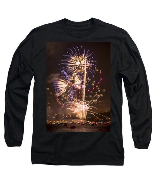 Golden Gate Bridge 75th Anniversary Fireworks 10 Long Sleeve T-Shirt